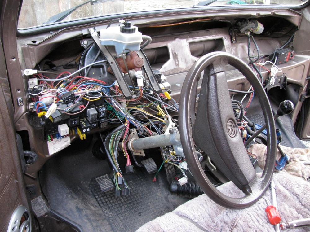 Vanagon dash removal, pedal assembly repair, and heater core flush (1/6)