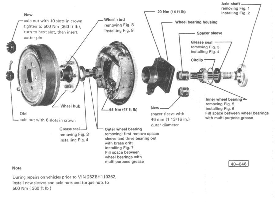 Vanagon rear wheel bearing replacement (2/6)