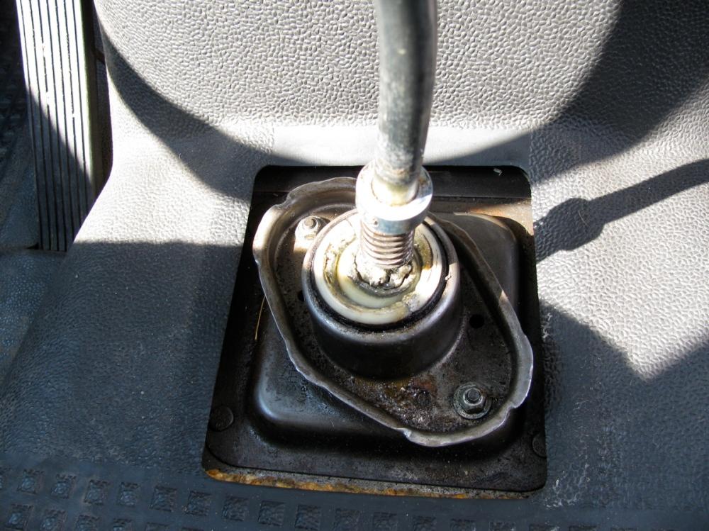 Vanagon syncro gear shift lever maintenance (2/6)